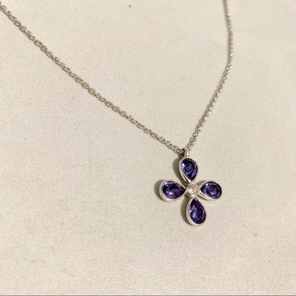 Swarovski Jewelry - Swarovski Crystal Flower Necklace